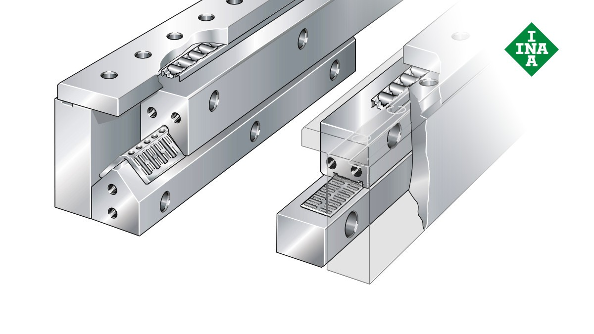 Schaeffler lineære føringer: Komplet system med nåle- og cylindriske rulleholdere