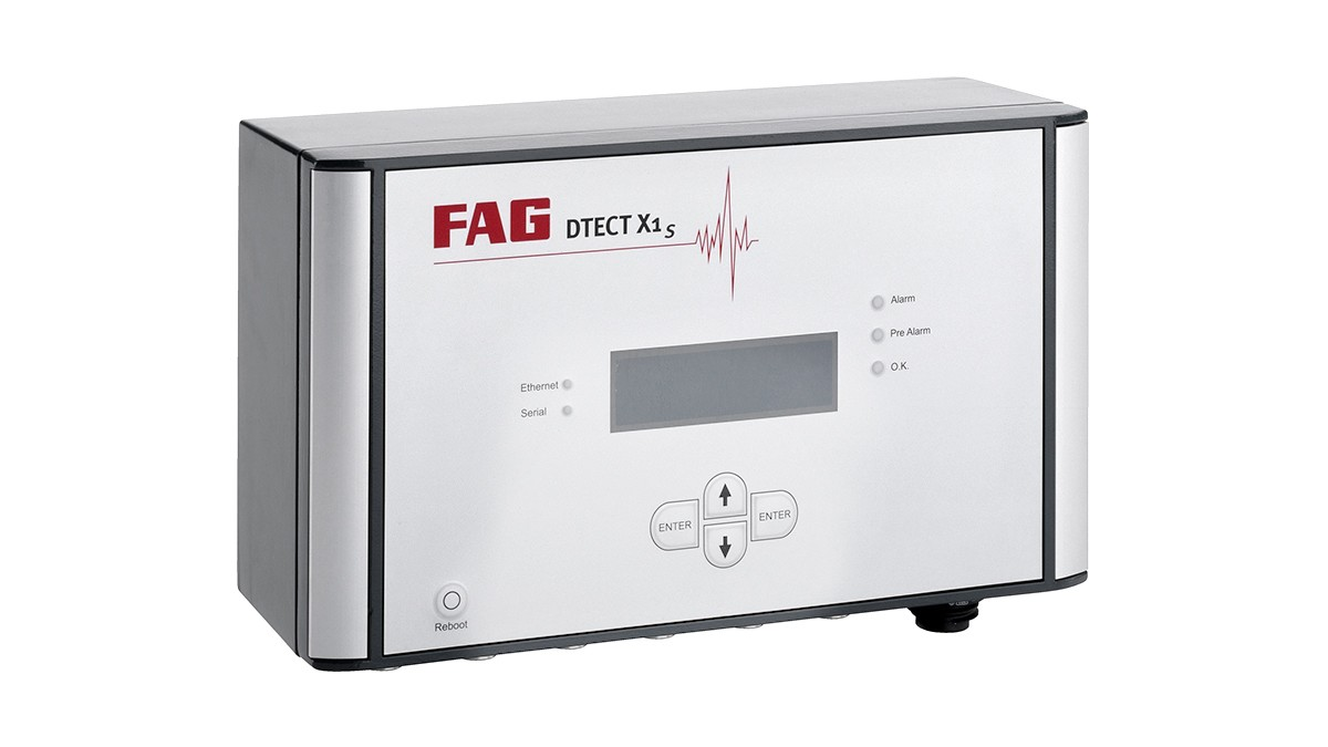 FAG DTECT X1 s er et fleksibelt online system til overvågning af roterende maskinelementer og komponenter inden for maskinindustrien.
